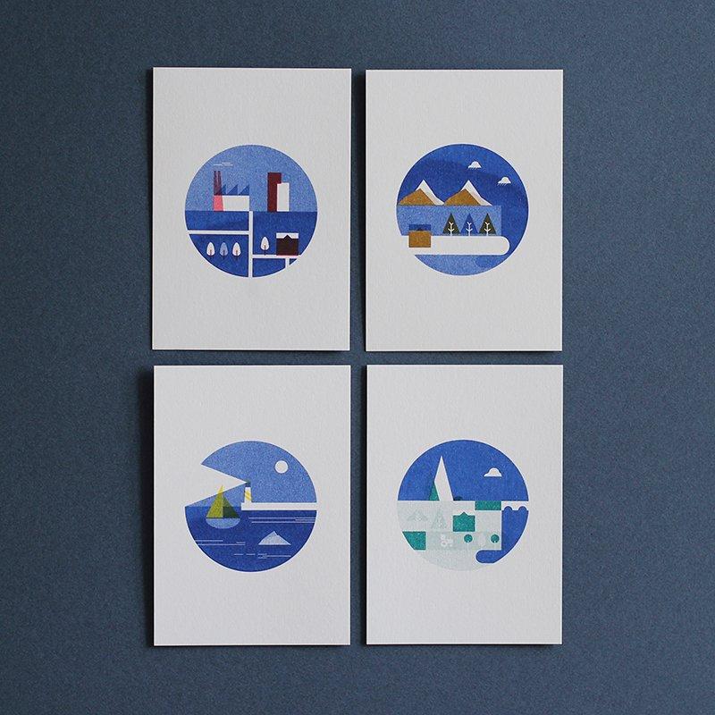 Carte Postales x4