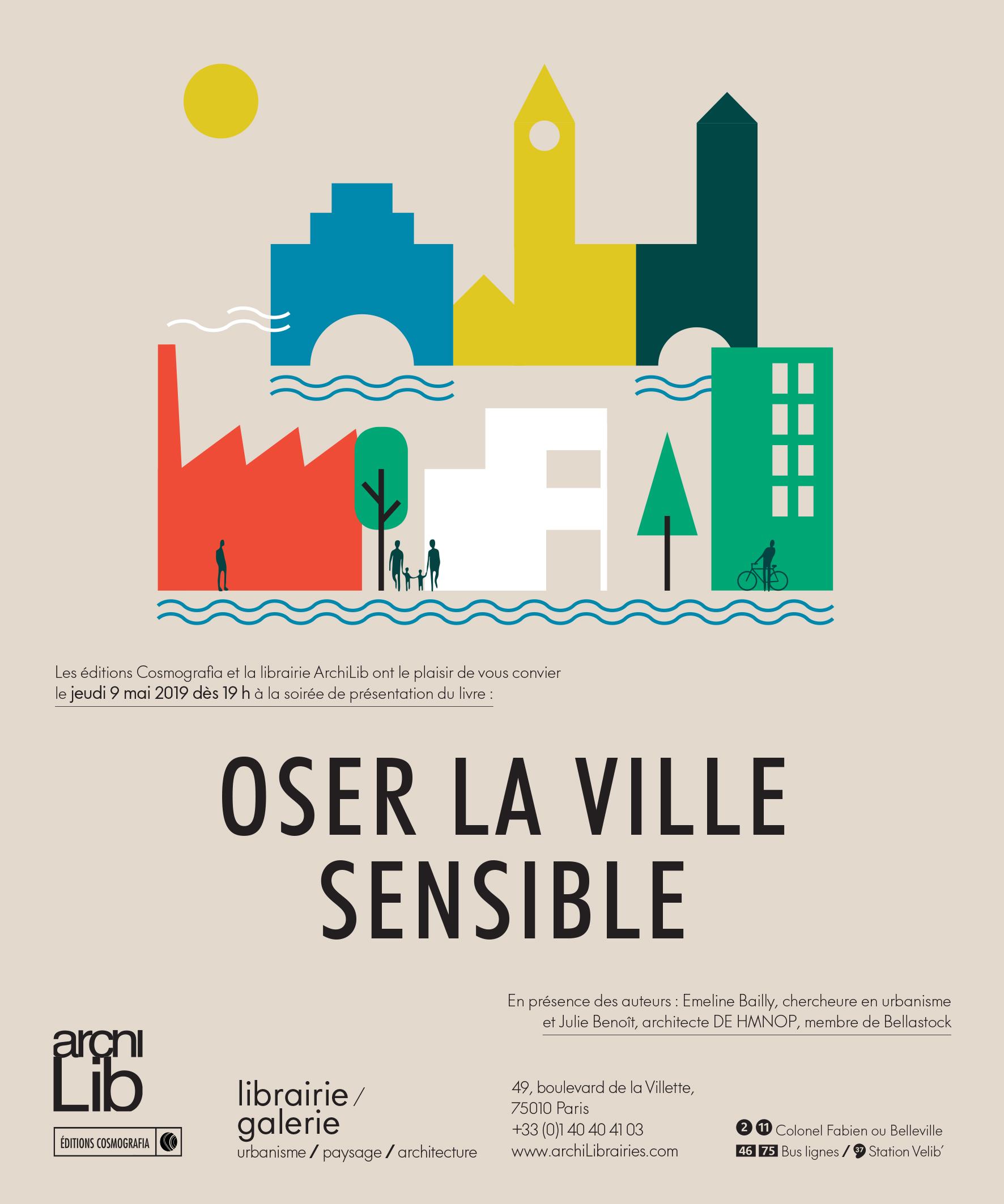 Soirée Oser la ville sensible le 9 mai à la librairie ARCHILIB de Paris